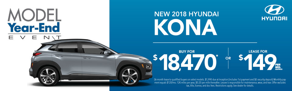 Buy or Lease 2018 Kona