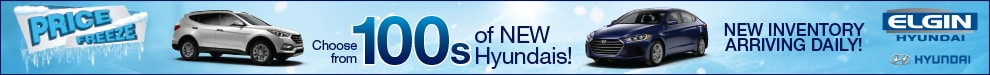 100s of New Hyundais to Choose