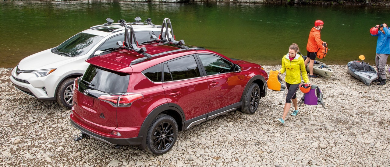 Toyota RAV4 with accessories