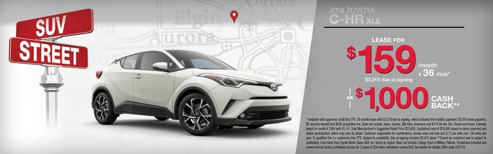 2018 Toyota C-HR Lease or Cash Back