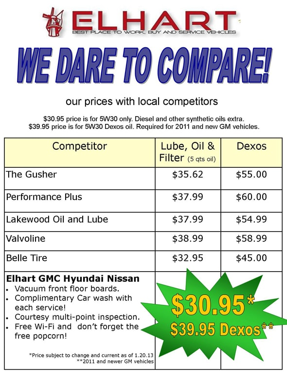 Elhart dares to compare with our competitors and christmas deals Holland MI.jpg