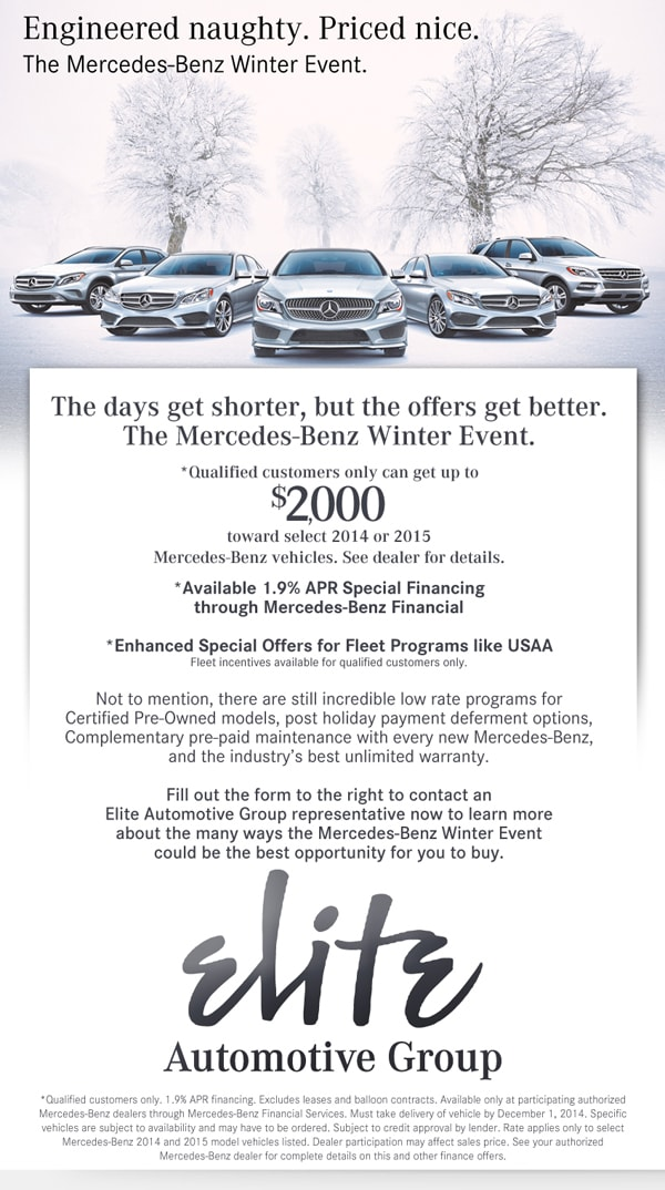 Mercedes Benz Winter Event Sale In Springfield MO