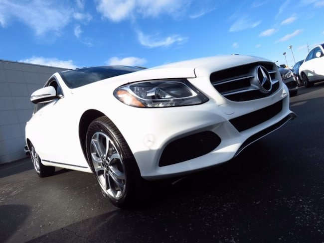 Used 2018 mercedes benz c class for sale polar white for Mercedes benz c class 300 for sale