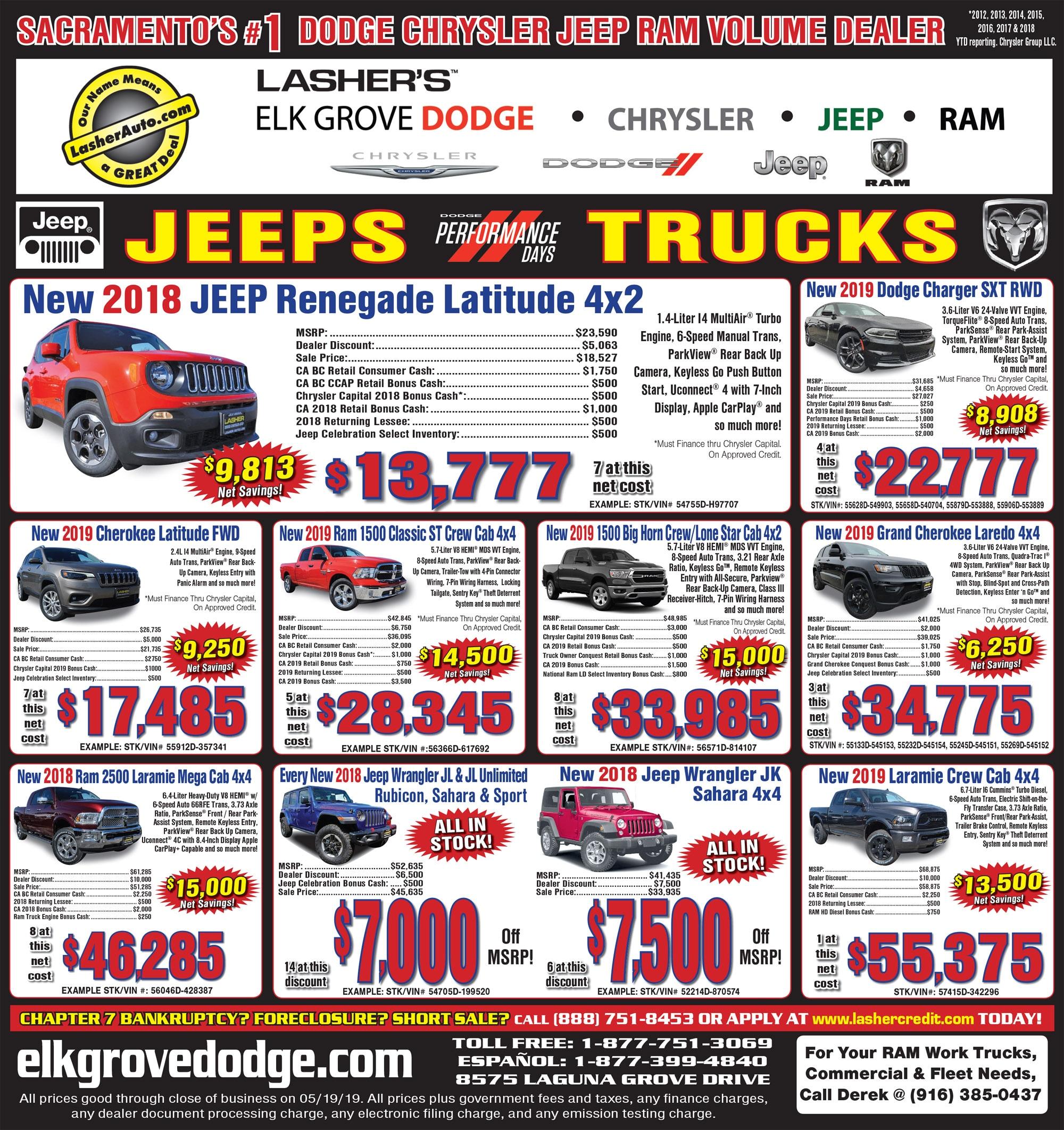Dodge Ram Jeep Sacramento Bee Ad For Elk Grove Dodge Chrysler Jeep