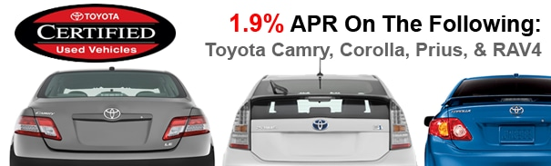 Toyota Certified Pre-Owned Vehicle Program