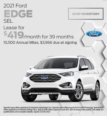 April 2021 Ford Edge SEL