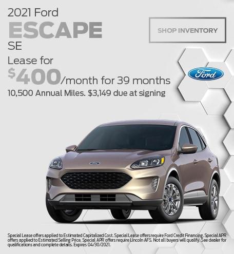 April 2021 Ford Escape