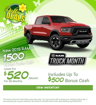 2019 RAM 1500 Lease - March