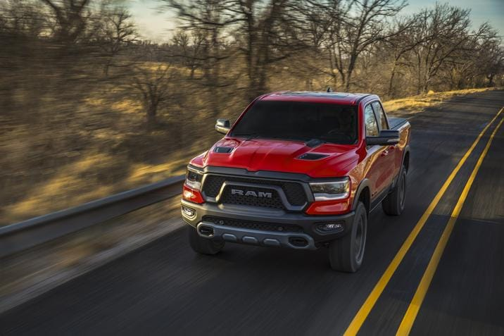 2019 Ram 1500 Red Exterior Front View
