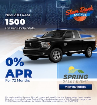 2019 RAM 1500 APR - March