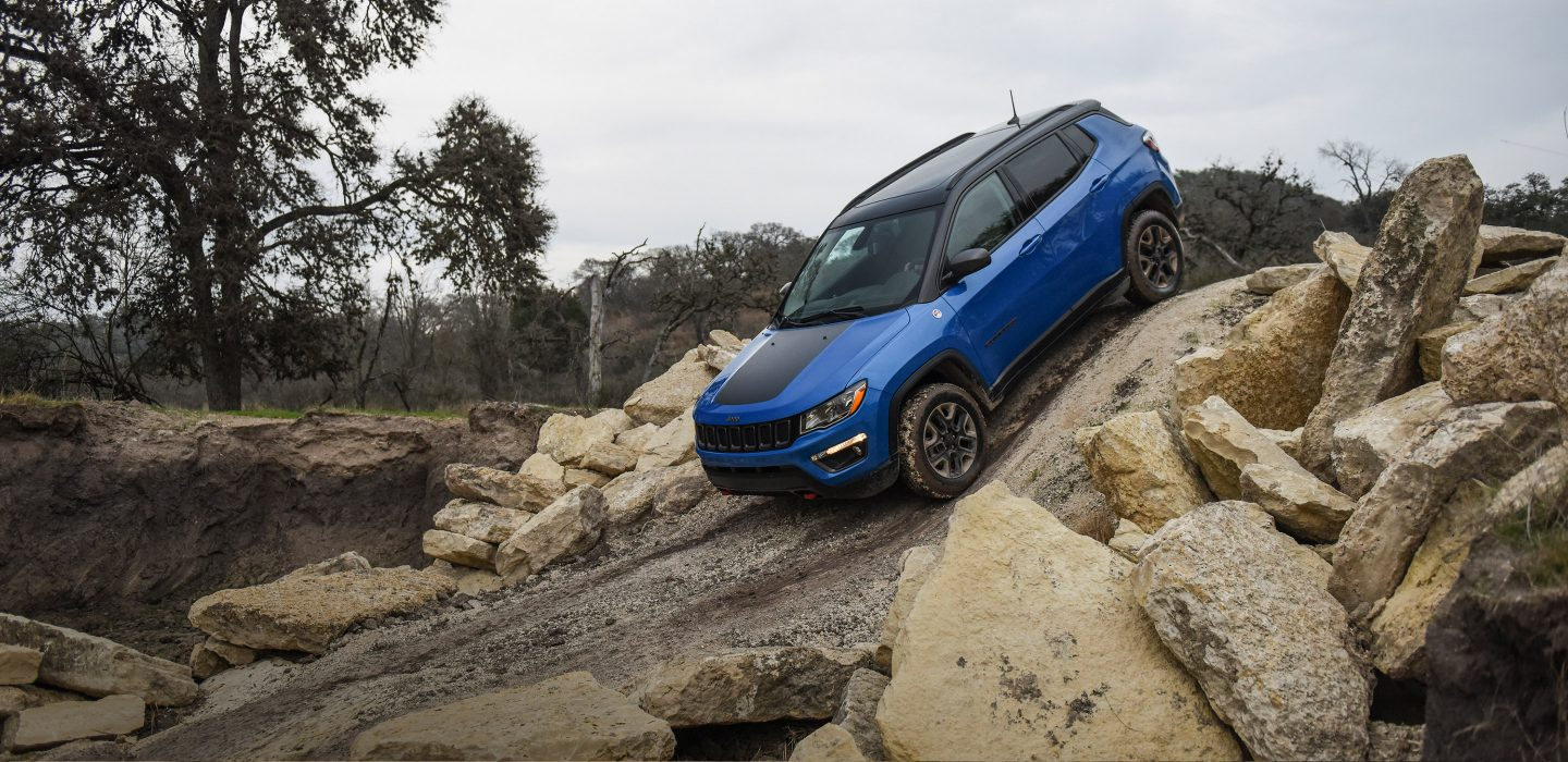 2018 Jeep Compass Trailhawk 4x4 Blue Exterior Off-Road