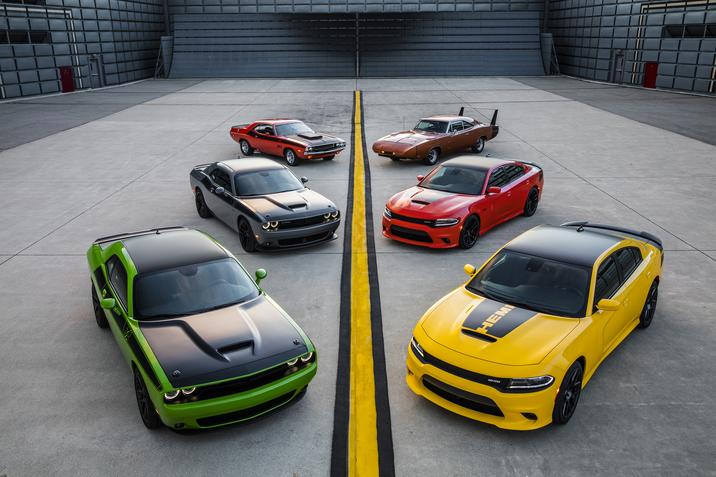 New Dodge Charger and Dodge Challenger with Past Models