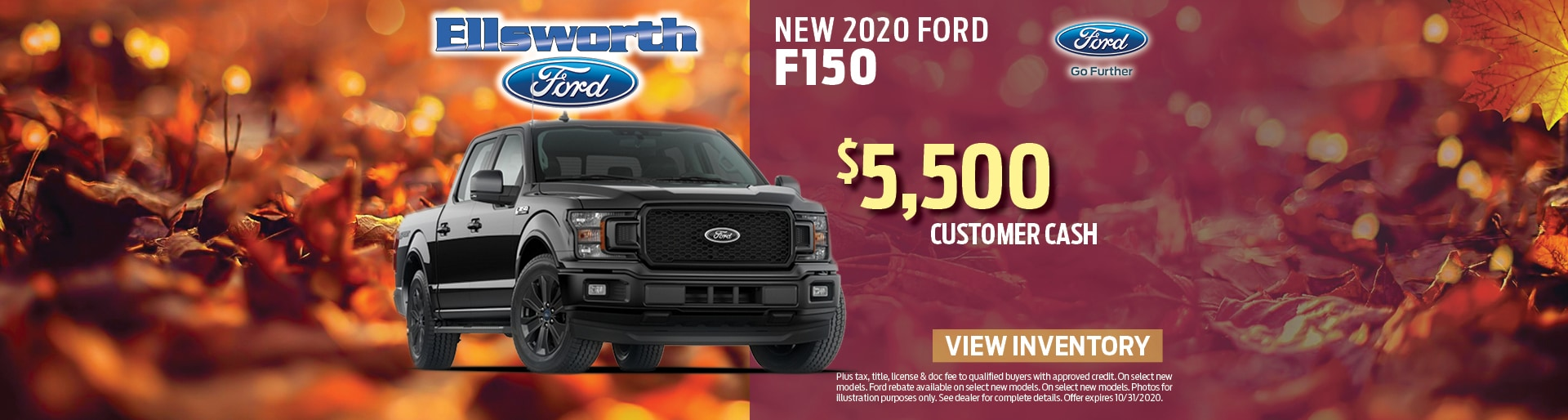 New 2020 Ford F-150 Ford Customer Cash | Ellsworth, WI