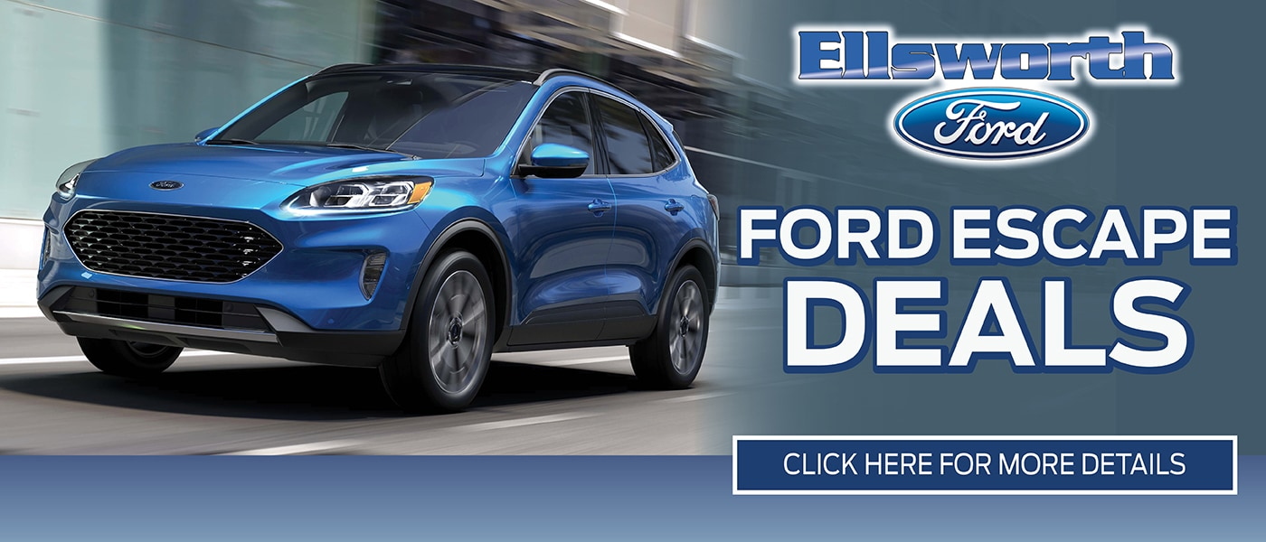 2020 Ford Escape Deals banner