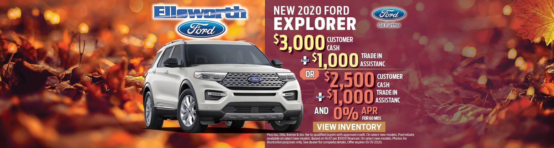 New 2020 Ford Explorer Customer Cash | Ellsworth, WI