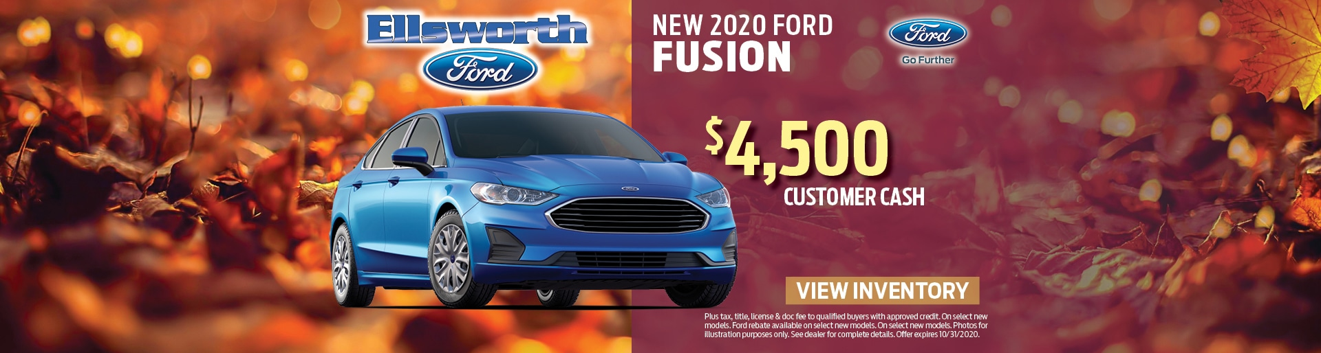 New 2020 Ford Fusion Customer Cash | Ellsworth, WI