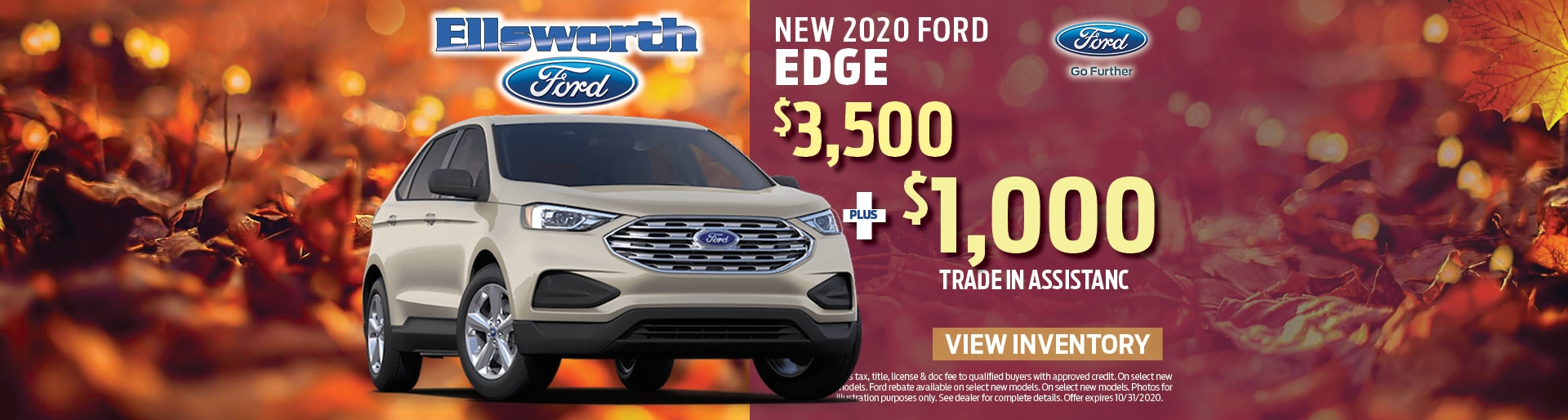 New 2020 Ford Edge Ford Customer Cash | Ellsworth, WI