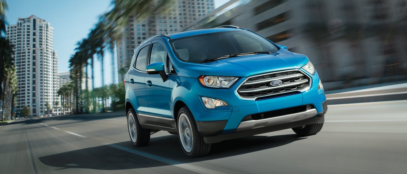 2020 Ford EcoSport exterior driving on city road