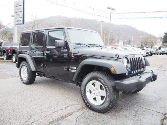 Used 2016 Jeep Wrangler Unlimited Sport SUV for sale in Wheeling, WV near St. Clairsville OH
