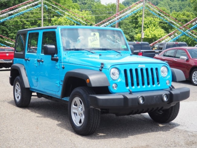 Used 2017 Jeep Wrangler Unlimited Sport SUV for sale in Wheeling, WV near St. Clairsville OH