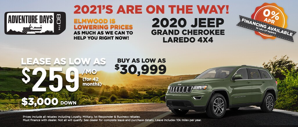 2020 Jeep Grand Cherokee Laredo lease offer and buy price