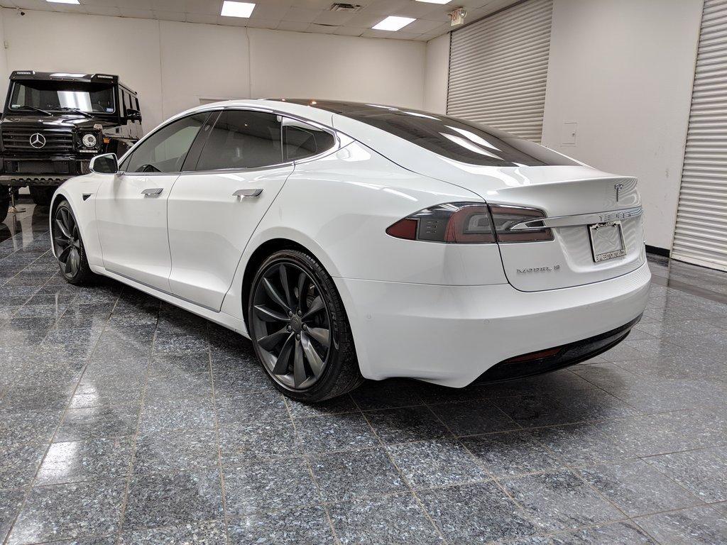 Pearl White Multi-Coat 2017 Tesla Model S 90D For Sale