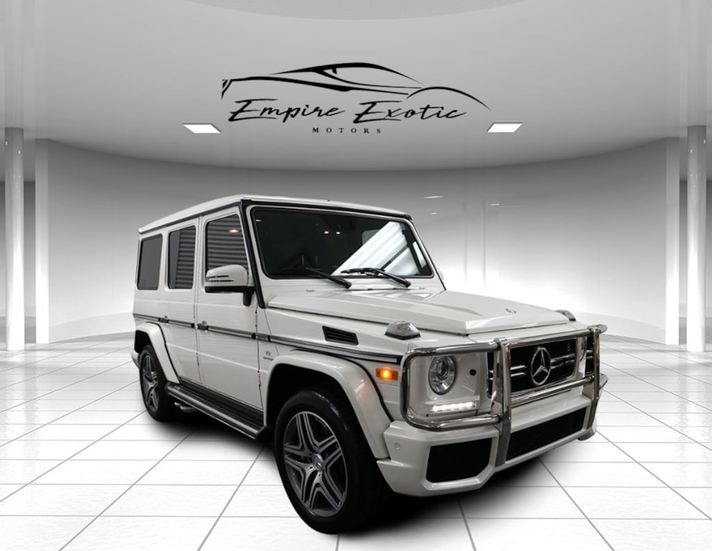 Polar White 2016 Mercedes-Benz AMG G G63 4MATIC For Sale