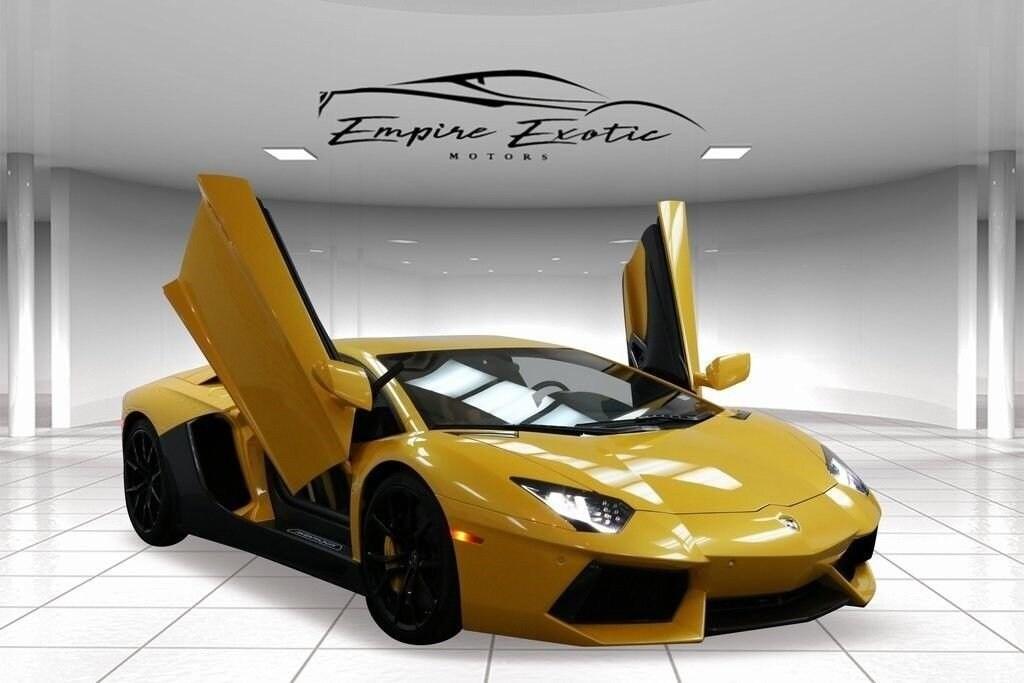 Yellow 2015 Lamborghini Aventador For Sale