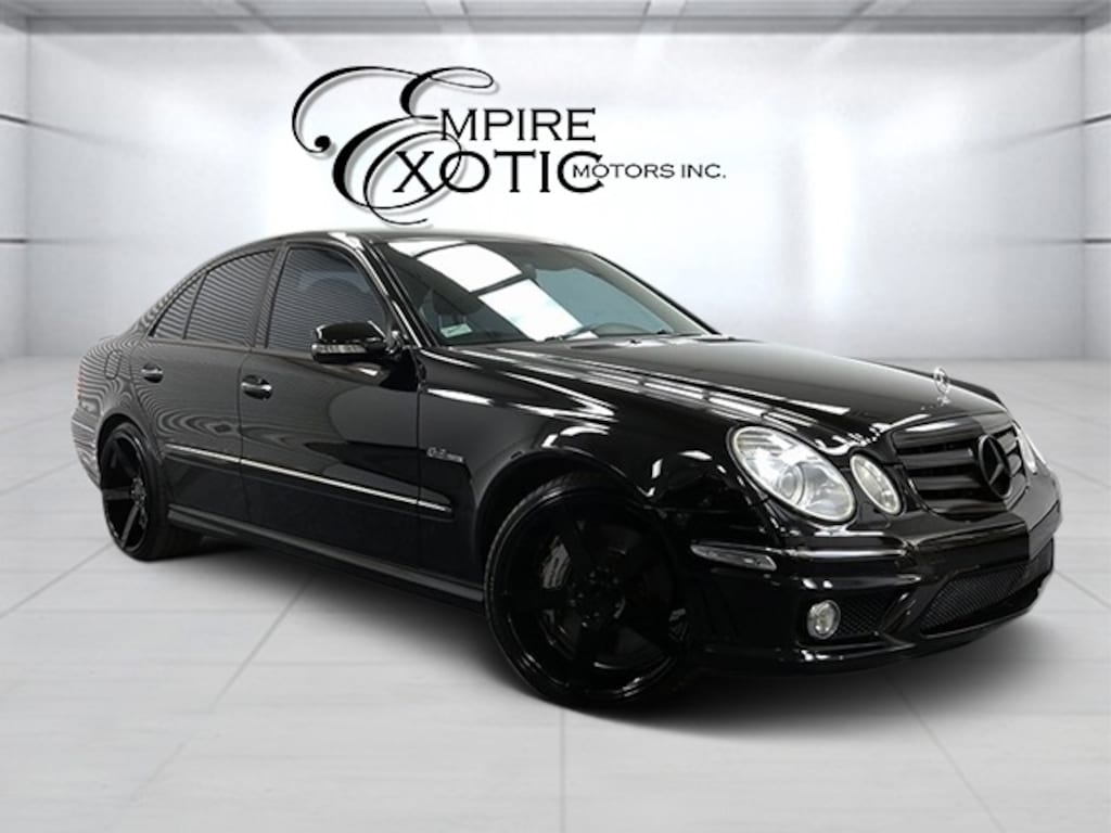 Black 2008 Mercedes-Benz E-Class Base For Sale
