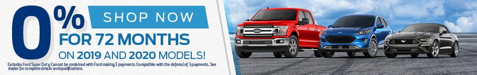 0% for 72 mos on 2019/2020 Models