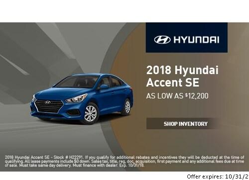 New Hyundai Specials At Empire Hyundai