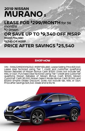 2019 Nissan Murano - September Offer