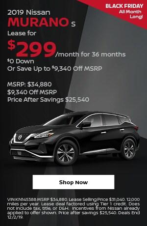 2019 Nissan Murano - November Offer