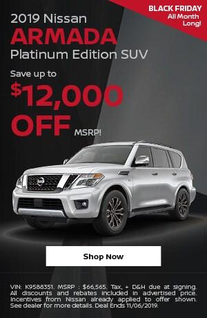 2019 Nissan Armada - November Offer