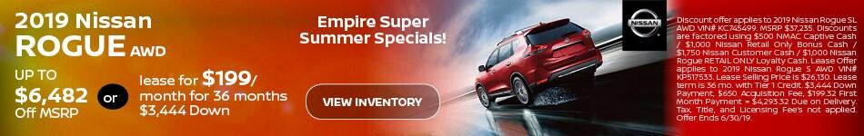 2019 Nissan Rogue - June Offer