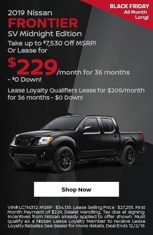 2019 Nissan Frontier Midnight Edition - November Offer