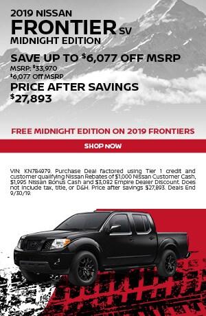 2019 Nissan Frontier - September Offer