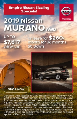 2019 Nissan Murano AWD - July Offer