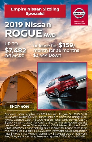 2019 Nissan Rogue AWD - July Offer