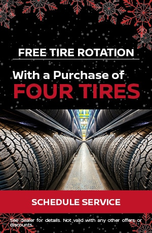 Free Tire Rotation with Purchase of 4 Tires