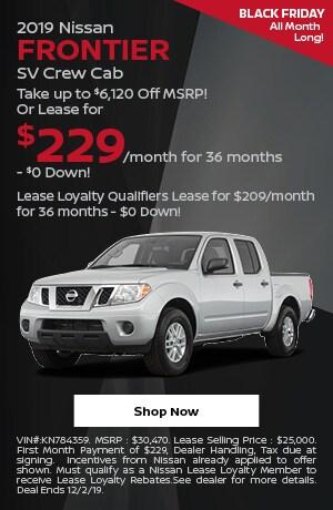 2019 Nissan Frontier - November Offer