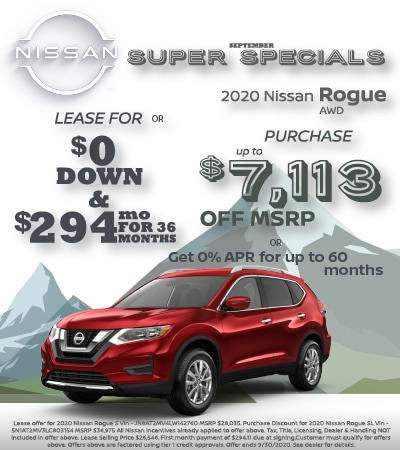 2020 Nissan Rogue Lease & Purchase Specials