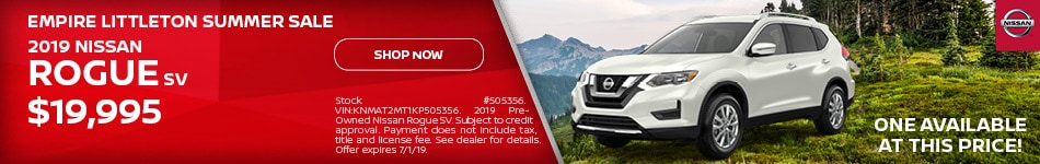 Nissan Rogue Summer Special - June Offer