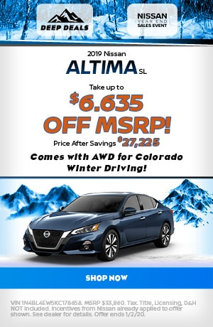 2019 Nissan Altima - December Offer