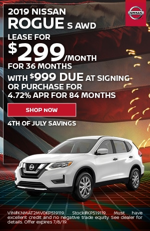 4th of July Special! 2019 Nissan Rogue S AWD