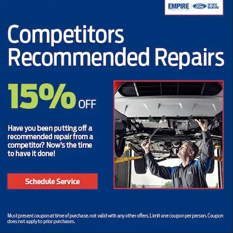 15% OFF Competitor's Recommended Repair