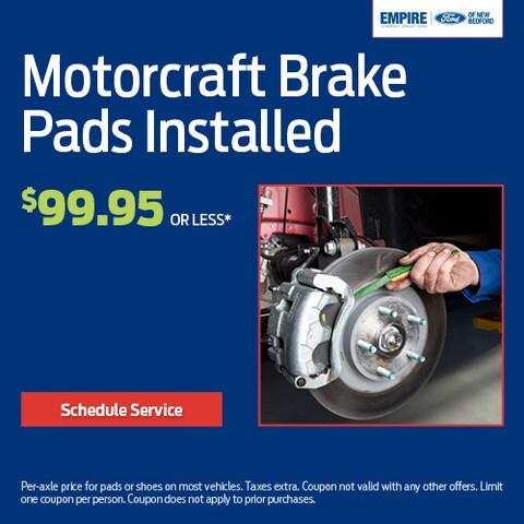 Motorcraft Brake Pads Installed