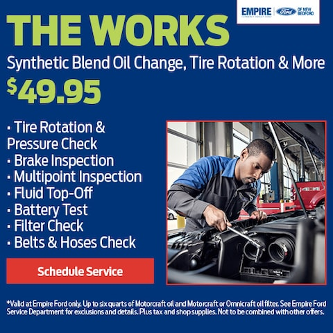 The Works - Synthetic Blend Oil Change, Tire Rotation & More
