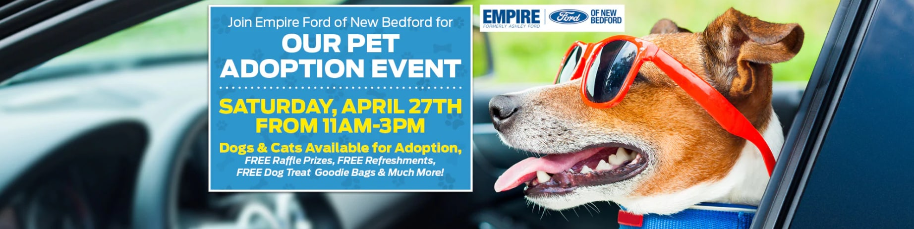 EMPIRE FORD to sponsor a Pet Adoption Event | Empire Ford of New Bedford