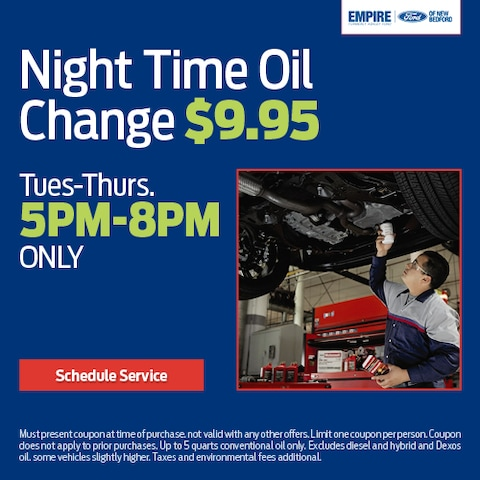 Night Time Oil Change $9.95